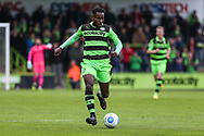 Forest Green Rovers Dale Bennett(6) runs forward during the Vanarama National League match between Forest Green Rovers and Chester FC at the New Lawn, Forest Green, United Kingdom on 14 April 2017. Photo by Shane Healey.