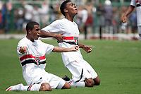 20100125: SAO PAULO, BRAZIL - Sao Paulo FC vs Santos - Sao Paulo Youth Cup 2010 Final. Sao Paulo FC won on the penalty shootout. In picture: Marcelinho (Sao Paulo) celebrating goal. PHOTO: CITYFILES