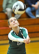 Vermilion at Elyria Catholic JV volleyball on September 18, 2012. Images © David Richard and may not be copied, posted, published or printed without permission.