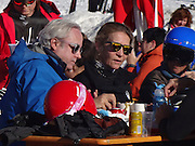 BAQUEIRA, SPAIN, 2015, DECEMBER 23 Her Royal Highness Princess Elena and her daughter Victoria Federica, enjoy weekend skiing, The King's sister, oblivious to the sensitive personal moments that are spending your sister Princess Cristina after you first sit down on the bench, continues with his life. Despite the difficult situation that is going on Princess Cristina, her sister Princess Elena keeps smiling and enjoying the company of friends. On this occasion, the Duchess of Lugo traveled to Lleida Baqueira Beret to enjoy a weekend with her daughter and some friends