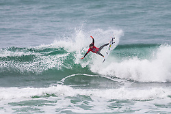 Matt Meola (HAW) surfing in Qualifying Round 2 Heat 2 of the WSL Redbull Airborne event in Hossegor, France.