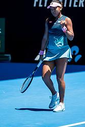 January 21, 2019 - Melbourne, VIC, U.S. - MELBOURNE, AUSTRALIA - JANUARY 21 : Naomi Osaka of ÊJapan returns the ball during day 8 of the Australian Open on January 21 2019, at Melbourne Park in Melbourne, Australia.(Photo by Jason Heidrich/Icon Sportswire)MELBOURNE, AUSTRALIA - JANUARY 21  (Credit Image: © Jason Heidrich/Icon SMI via ZUMA Press)