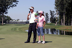 16 July 2006 Champion John Senden and family. The John Deere Classic is played at TPC at Deere Run in Silvis Illinois, just outside of the Quad Cities