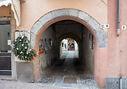 """Luino, Lombardia. ITALY.   """"Luino Old Town"""" narrow streets, hilly, situated, on the side of Lake Maggiore, Province of Varese.. ITALY <br /> <br /> Monday  02/01/2017  <br /> <br /> © Peter SPURRIER,<br /> <br /> <br /> LEICA CAMERA AG LEICA Q (Typ 116). ISO 100  f1.7  28mm"""