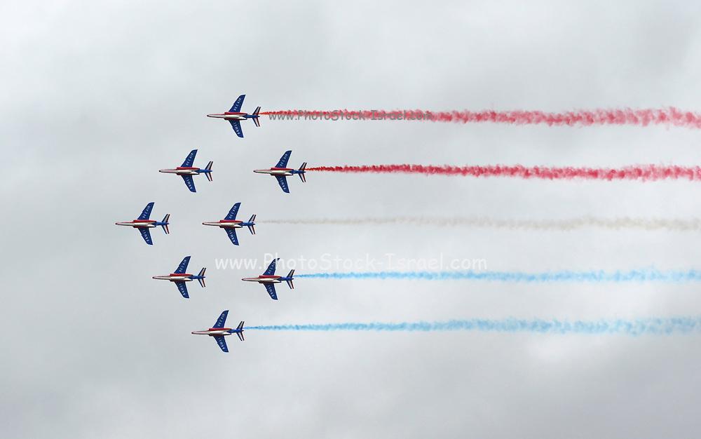 Aerobatics team at the le Bourget Air show, Paris, France