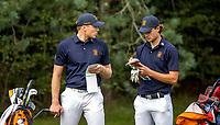HILVERSUM - Netherlands vs Italy (1-2) . Bob Geurts and Kiet van der Weele (r) . Quarter finals. ELTK Golf 2020 The Dutch Golf Federation (NGF), The European Golf Federation (EGA) and the Hilversumsche Golf Club will organize Team European Championships for men. COPYRIGHT KOEN SUYK