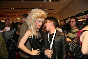 JODIE HARSH AND LOUIS BHOSE , Uniqlo - Japanese store launch party, 311 Oxford Street, London, W1. 6 November 2007. -DO NOT ARCHIVE-© Copyright Photograph by Dafydd Jones. 248 Clapham Rd. London SW9 0PZ. Tel 0207 820 0771. www.dafjones.com.