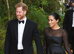 The Duke and Duchess of Sussex arriving at the European Premiere of The Lion King, Odeon Cinema, Leicester Square, London. Photo credit should read: Doug Peters/EMPICS