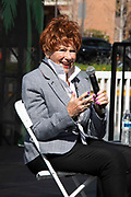 """Marion Ross, whom played Mrs. Cunningham on the Happy Day's Sitcom and Author of """"My Days: Happy and Otherwise, """" interviewed by Patt Morrison at the Los Angeles Times Festival of Books held at the USC Campus in Los Angeles, California on Sunday, April 14, 2019"""