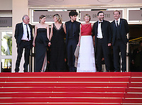 The cast at the 'Un Chateau En Italie' film gala screening at the Cannes Film Festival Monday 20th May 2013