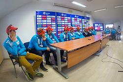 Slovenian Biathlon team during Slovenian biathlon team presenetation before season 2017/2018, Ljubljana, Slovenia. Photo by Ziga Zupan / Sportida