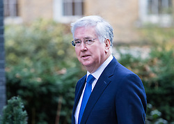 Downing Street, London, February 28th 2017. Defence Secretary Michael Fallon attends the weekly cabinet meeting at 10 Downing Street in London.