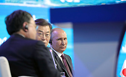 September 7, 2017 - Vladivostok, Primorye Territory, Russia - September 7, 2017. - Russia, Primorye Territory, Vladivostok. - Russian President Vladimir Putin at the plenary session of the 3rd Eastern Economic Forum. (Credit Image: © Russian Look via ZUMA Wire)