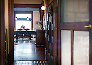 MADISON, WI — SEPTEMBER 2: A view through the front door of Buell House at 115 Ely Place through to the dining room.