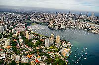 Rushcutters Bay (left) & Elizabeth Bay