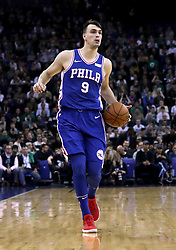 Philadelphia 76ers' Dario Saric during the NBA London Game 2018 at the O2 Arena, London. PRESS ASSOCIATION Photo. Picture date: Thursday January 11, 2018. See PA story BASKETBALL London. Photo credit should read: Simon Cooper/PA Wire. RESTRICTIONS: Editorial use only, No commercial use without prior permission