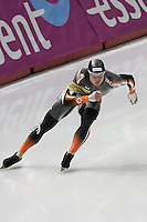 Jeremy Wotherspoon skates to his 2nd gold medal in the 500m at the World Cup Speedskating event at the Calgary Olympic Oval.  Wotherspoon also won gold on the first day of the event.