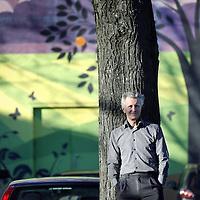 Nederland, Haarlem , 11 december 2012..Maurits Groen (1953) is een Nederlandse communicatieadviseur met landelijke bekendheid. Hij is de zaakvoerder van het adviesbureau Maurits Groen Milieu & Communicatie..Maurits Groen nummer 3 Trouw Duurzame 100. Maurits Groen is doorgedrongen tot de top 3 van de Duurzame 100 van Trouw. Quote uit Trouw..Foto:Jean-Pierre Jans