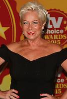 Denise Welch, TV Choice Awards, London Hilton Park Lane, London UK, 07 September 2015, Photo by Brett D. Cove