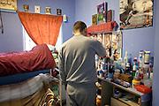 Enhanced prisoner in his room on H wing at YOI Aylesbury.