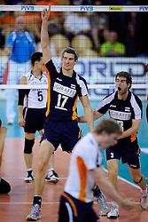 08-07-2010 VOLLEYBAL: WLV NEDERLAND - ZUID KOREA: EINDHOVEN<br /> Nederland verslaat Zuid Korea met 3-0 / Rob Bontje<br /> ©2010-WWW.FOTOHOOGENDOORN.NL