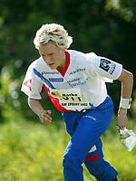 Orientering, 21. juni 2002. NM sprint. Heather Monro, Halden.