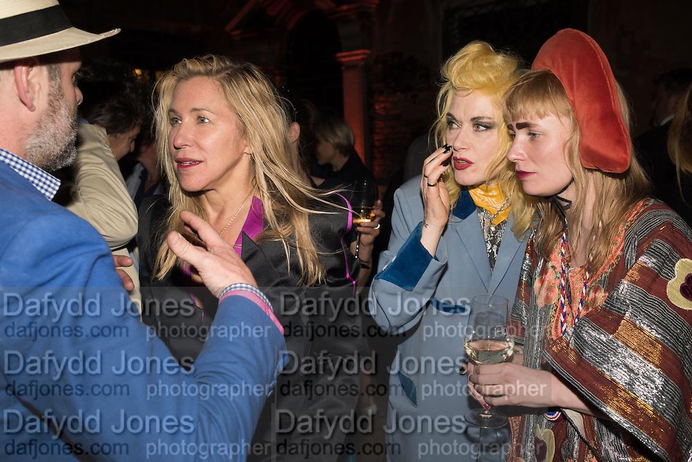 GAVIN TURK;   MAYA  HIRST; KRIS LEMSALU; PAM HOGG, Sarah Lucas- Scream Daddio party hosted by Sadie Coles HQ and Gladstone Gallery at Palazzo Zeno. Venice. 6 May 2015.