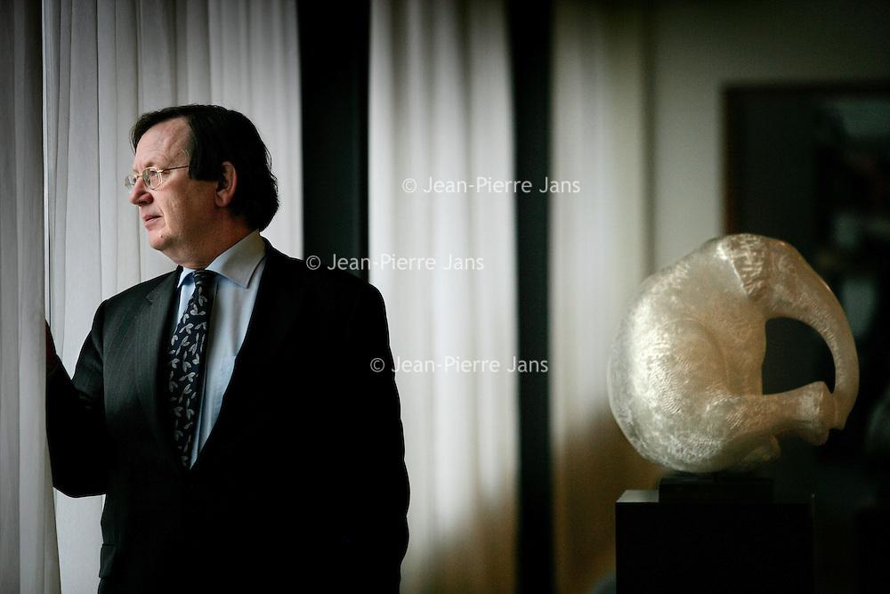 Nederland.Amsterdam. 12 april 2005..Nout Wellink, president van de Nederlandsche Bank..Nout Wellink, President of the Dutch Central Bank.