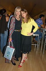 Left to right, JAN DE VILLENEUVE and her daughter DAISY DE VILLENEUVE at a party to celebrate the launch of Amy Sacco's book 'Cocktails' held at Sanderson, 50 Berners Street, London W1 on 10th July 2006.<br />