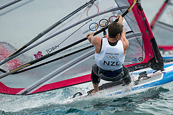 31.07.2012, Bucht von Weymouth, GBR, Olympia 2012, Windsurfen, im Bild RS:X Men, Tobin Jon-Paul (NZL) . EXPA Pictures © 2012, PhotoCredit: EXPA/ Juerg Kaufmann ***** ATTENTION for AUT, CRO, GER, FIN, NOR, NED, POL, SLO and SWE ONLY!