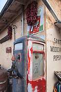 Old gas pump, Chimayó, New Mexico