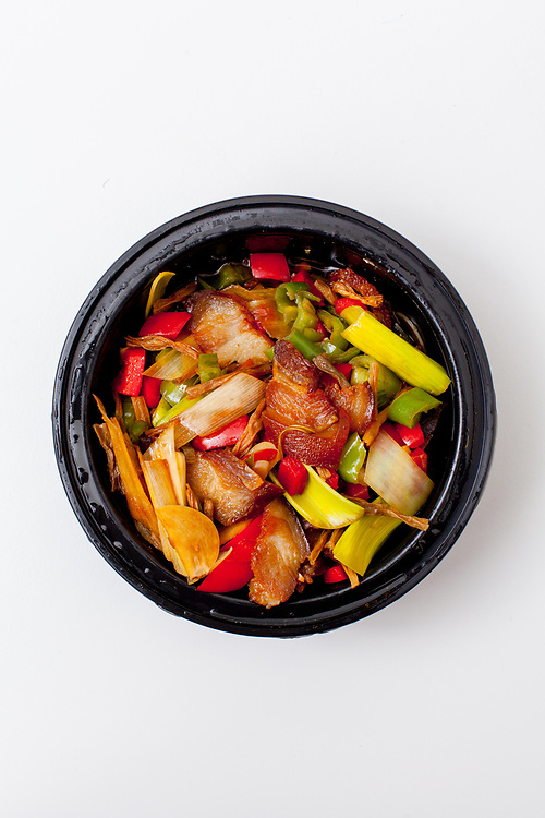 Sauteed Preserved Pork and Garlic Stems from Hunan Bistro ($10.80) - Delivery: T1 Story Mapping
