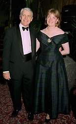 MR & MRS ROBIN HANBURY-TENISON, he is the explorer, at a ball in London on 22nd May 1997.LYO 50