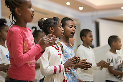 26 October 2019, Addis Ababa, Ethiopia:  Contribution by the Mekanissa Mekane Yesus Children's Choir. Gathered in Addis Ababa from 23-27 October 2019, Lutherans from across the globe join in consultation under the theme of 'We believe in the Holy Spirit: Global Perspectives on Lutheran Identities'. Hosted by the Ethiopian Evangelical Church Mekane Yesus, the consultation is the first phase of a study process on Lutheran identities.