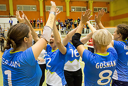 Jana Ferjan of Slovenia, Nadja Ovcjak of Slovenia during friendly Sitting Volleyball match between National teams of Slovenia and China, on October 22, 2017 in Sempeter pri Zalcu, Slovenia. (Photo by Vid Ponikvar / Sportida)