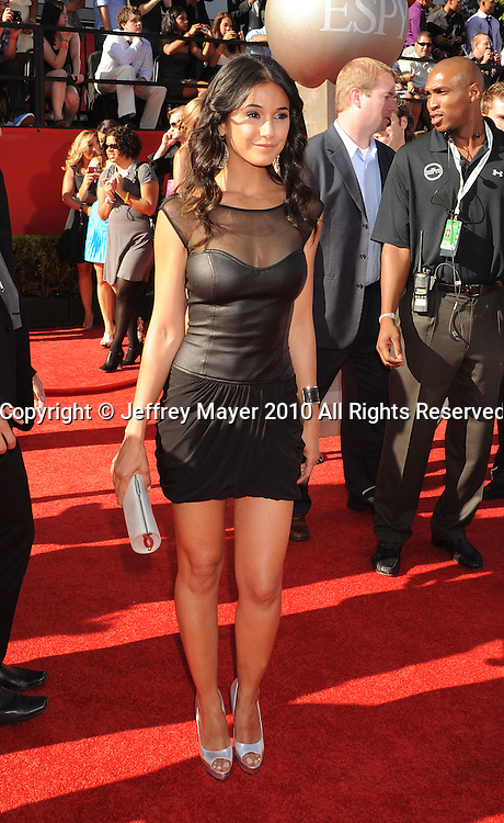 LOS ANGELES, CA. - July 14: Emmanuelle Chriqui  arrives at the 2010 ESPY Awards at Nokia Theatre L.A. Live on July 14, 2010 in Los Angeles, California.