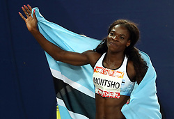 Botswana's Amantle Montsho celebrates winning gold in the Women's 400m Final at the Carrara Stadium during day seven of the 2018 Commonwealth Games in the Gold Coast, Australia. PRESS ASSOCIATION Photo. Picture date: Wednesday April 11, 2018. See PA story COMMONWEALTH Athletics. Photo credit should read: Danny Lawson/PA Wire. RESTRICTIONS: Editorial use only. No commercial use. No video emulation.
