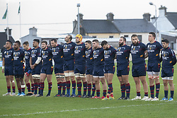 December 8, 2018 - Galway, Ireland - The Perpignan players pictured during a minute  of silence during the European Rugby Challenge Cup match between Connacht Rugby and Perpignan at the Sportsground in Galway, Ireland on December 8, 2018  (Credit Image: © Andrew Surma/NurPhoto via ZUMA Press)