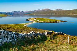 Loch Eriboll in Sutherland , Scotland part of the North Coast 500 tourist road trip.
