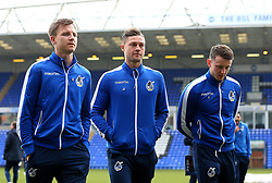 Tony Craig, James Clarke and Ollie Clarke of Bristol Rovers arrive at The ABAX Stadium, for the Sky Bet League One fixture against Peterborough United - Mandatory by-line: Robbie Stephenson/JMP - 24/03/2018 - FOOTBALL - ABAX Stadium - Peterborough, England - Peterborough United v Bristol Rovers - Sky Bet League One