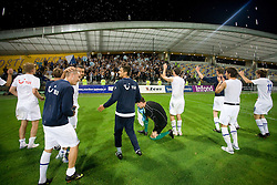 Players of Zurich celebrate after Third Round of Champions League qualifications football match between NK Maribor and FC Zurich,  on August 05, 2009, in Ljudski vrt , Maribor, Slovenia. Zurich won 3:0 and qualified to next Round. (Photo by Vid Ponikvar / Sportida)