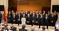 Real Madrid CF players and the Mayor of Madrid, Manuela Carmena during the Real Madrid CF reception at Madrid city hall after winning the Champions League May 29,2016. (ALTERPHOTOS/Rodrigo Jimenez)