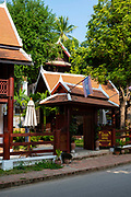 Sirirkili Villa along Kingkitsarath Road,  morning, Luang Prabang, Laos.