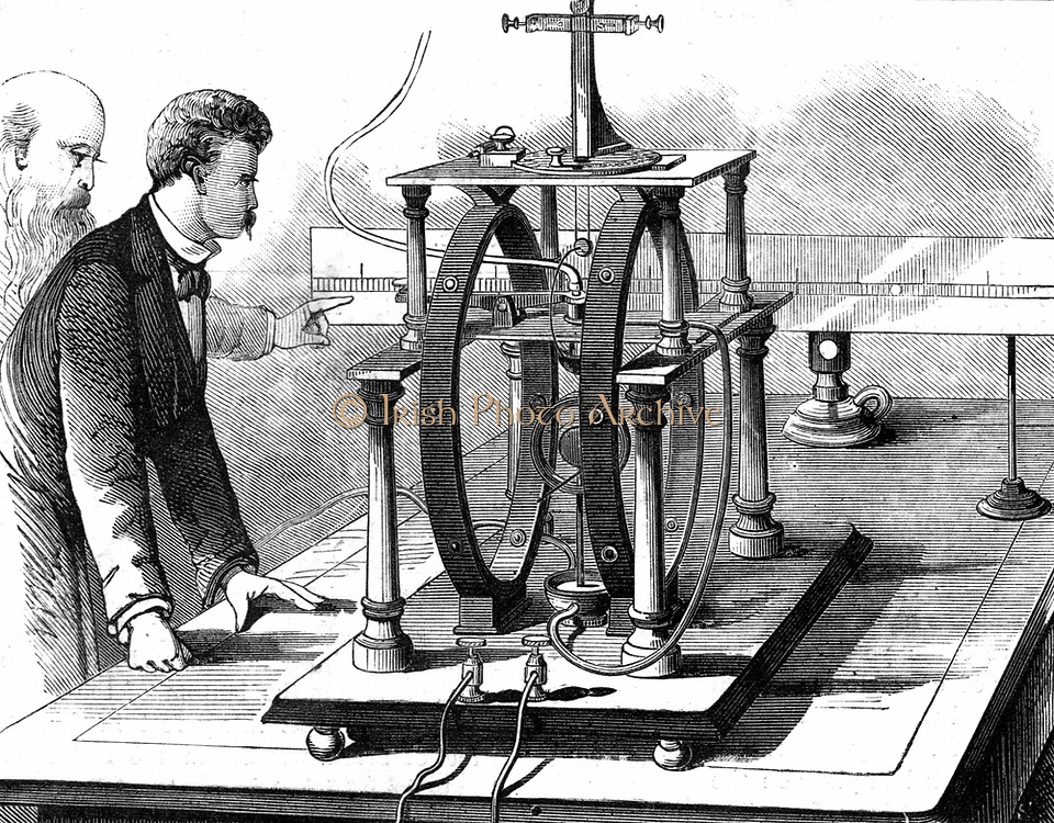 Edison's improved form of  JW Trowbridge's electric dynamometer. 'Scientific American' New York 1879