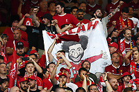 Tifosi Liverpool supporters Salah banner<br /> Kiev 26-05-2018 Kiev Olympic Stadium <br /> Football Champions League 2017/2018 Final Real Madrid - Liverpool Foto Matteo Gribaudi/Image Sport/Insidefoto
