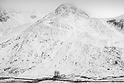 Nant Ffrancon Pass in a cold winter
