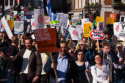 London, March 7th 2015, Several thousand people from across the UK march through London in the Time To Act National Climate March.