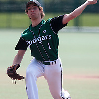 11 April 2010: Sebastien Neumann of Montigny pitches against Rouen during game  1/week 1 of the French Elite season won 5-1 by Rouen over Montigny, at the Cougars Stadium in Montigny le Bretonneux, France.