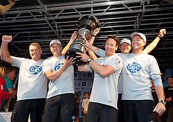 Ian Williams and his GAC Pindar Team collect the Stena Match Cup. Photo: Chris Davies/WMRT