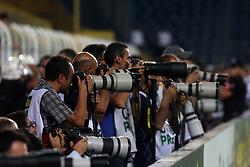 August 24, 2017 - Vardar players celebrate their victory during Fenerbahce vs. Vardar UEFA Europe League Game at Ulker Stadium, Kadikoy, Istanbul, Turkey (Credit Image: © Tolga Adanali/Depo Photos via ZUMA Wire)